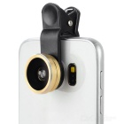 Universal 0.4X Super Wide Angle + 10X Macro Phone Lens - Gold + Black