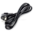 3-Flat-Pin Plug Power Cable for Computer / Printer + More - Black (130cm)