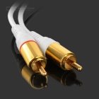 3.5mm Female to 2-RCA Male Audio Cable - White (54cm)