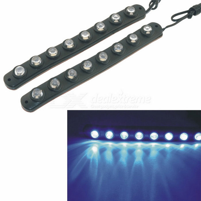 CARKING Flexible 8-LED 490nm Blue Car Daytime Running Light (2PCS)