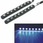 CARKING Water Resistant Flexible 8-LED 490nm 160lm Blue Car Decorative Daytime Running Light (2PCS)