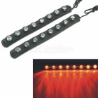 CARKING Water Resistant Flexible 8-LED 700nm 160lm Red Car Decorative Daytime Running Light (2PCS)