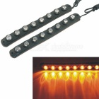 CARKING Water Resistant Flexible 8-LED 590nm Yellow Car Decorative Daytime Running Light (2PCS)