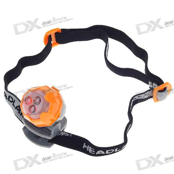 Ultra Bright 3-LED 3-Mode Headlamp with Clip (2*CR2032) mini 2 mode white light camping lantern with carabiner clip 2 cr2032 color assorted
