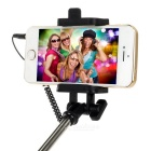 3.5mm Plug Mini Selfie Monopod w/ Holder for IPHONE - Yellow + Black