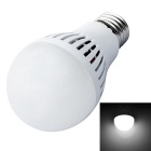 JIAWEN E27 7W LED Ball Bulb White Light 560lm 6500K 35-3528 SMD - White (AC 110~240V)
