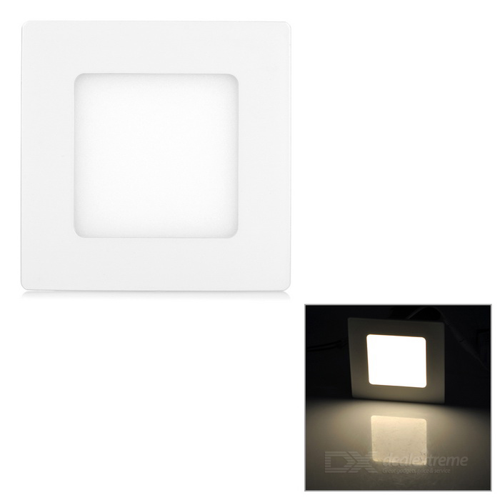 6W Panel Ceiling Lamp Warm White Light 3000K 400lm SMD 2835 - White