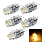 G4 2W 3-COB Warm White 3300K 110lm Car Reading Light w/ Concave Lens - Silver (5PCS / 12~20V)