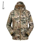 Men's Outdoor Warm Water Resistant Breathable Windproof Jacket Coat - Camouflage (L)
