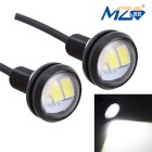 MZ 1.5W 22.5mm LED Eagle Eyes Car Daytime Running / Backup Light White 150lm SMD 5630 (12V / Pair)