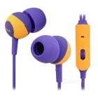 SSK EP-AM15S 3.5mm Plug In-Ear Earphones w/ Microphone for IPHONE, Samsung & More - Purple + Yellow