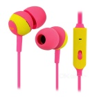 SSK EP-AM15S 3.5mm Plug In-Ear Earphones w/ Mic. for IPHONE, Samsung & More - Deep Pink + Yellow