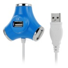 SSK SHU012 4-Port Hi-Speed USB 2.0 Hub for Portable Hard Disk - Blue