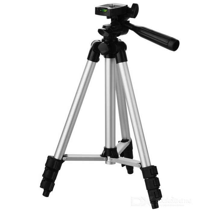 Tripod for Cameras, Telescopes, Fishing Lights - Silvery White + Black