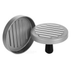 Aluminum Alloy Hamburger / Sandwich / Meatloaf Mold - Silver + Black