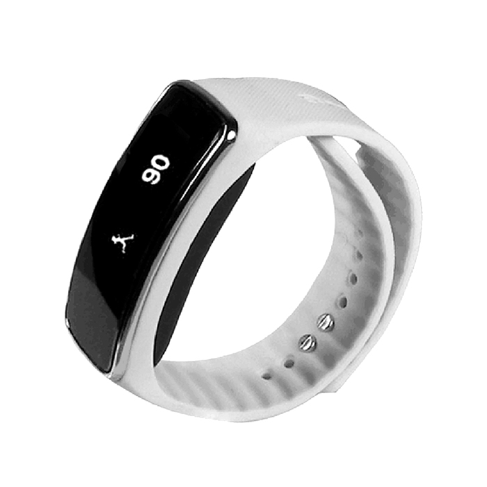 "0.91"" Bluetooth V4.0 Bracelete Inteligente w / Sleep Monitoramento - Branco + Preto"