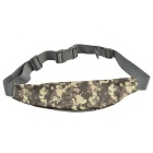 800D Outdoor Waterproof Nylon Waist Bag for Cycling - Camouflage Grey