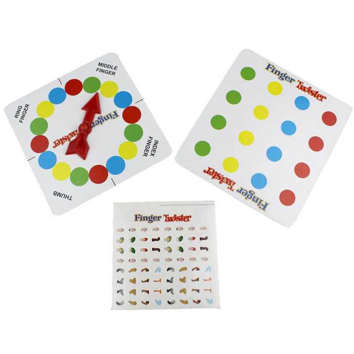 Home Entertainment Finger Twister Desktop Game Toy - Multi-ColorTable Games<br>Form ColorWhite + MulticolorMaterialPaper + plasticQuantity1 DX.PCM.Model.AttributeModel.UnitMin-player2Max-player4Suitable Age 5-7 years,8-11 years,12-15 years,Grown upsPacking List1 x Turntable1 x Card board1 x Sticker<br>