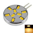 G4 4.5W Circular Corn Light Warm White 3000K 360lm SMD 5730 - Silver + Black (12V)