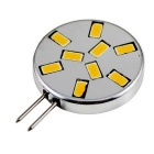 G4 4.5W Circular Corn Light Warm White 3000K 360lm - Silver + Black