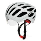 Basecamp EPS + PC Outdoor Bike Cycling Safety Helmet w/ Goggles - White