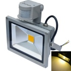 JIAWEN Waterproof 20W 3200K 1700lm Warm White LED Human Body IR Sensor Floodlight – Grey (85~265V)