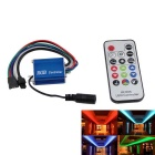 IR005 LED Waterproof RGB Strip Light Controller + 17-Key IR Remote Controller - Blue (DC 12~24V)