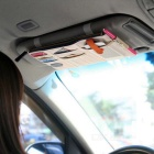 Non-Woven Cloth Hanging Storage Bag for Car Sunvisor - Off-White