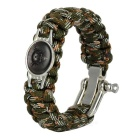 7-Core-Nylon Paracords Armband für Outdoor Notüberlebens - Camouflage
