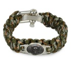FURA 7-Core Bracelet for Outdoor Emergency Survival - Camouflage