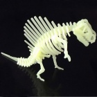DIY Luminous Dinosaur Puzzle Toy - Milky White