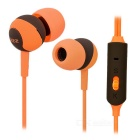 SSK EP-AM15S 3.5mm Plug In-Ear Earphones w/ Mic. for IPHONE, Samsung & More - Orange + Grey