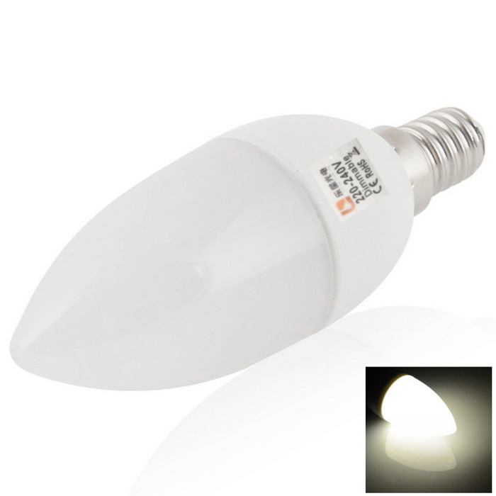 LeXing E14 4.5W Neutral White 4500K 180lm SMD Dimmable LED Candle Lamp
