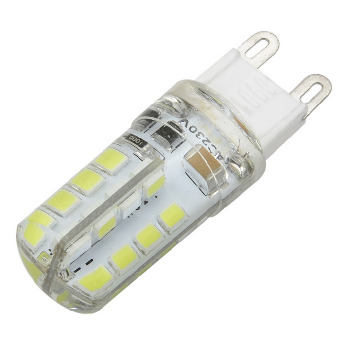 Marsing G9 4W LED Cold White Light Bulb 7000K 30-SMD - White + Yellow