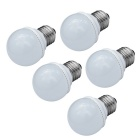 JIAWEN E27 3W LED Globe Bulbs Warm White 3200K 240lm SMD 3528 (AC 220V / 5 PCS)