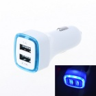 Luminous Aperture Design 3.1A Double Port USB Universal Quick Car Charger Adapter (12-24V)-Blue