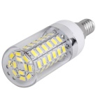 E14 12W 60 x 5730 SMD LED 1020lm 6000K  White Light LED Corn Light Bulb ( 85~265V )