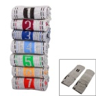 1~7 Days of the Week Cotton + Polyester + Spandex Socks Set for Male - Grey + Multicolor