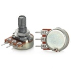 B20K 3Pin Monotroded Single Resistor Potentiometers - Silver (10PCS)