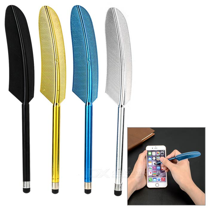 Kinston 4-in-1 Feather Style Stylus for IPHONE + More - Multicolor