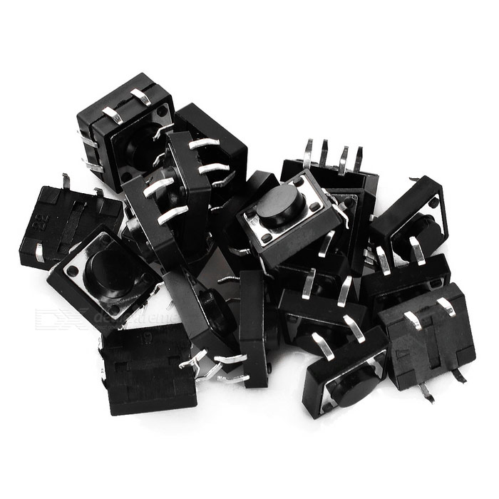 12 x 12 x 5mm tact switches (20 unidades)
