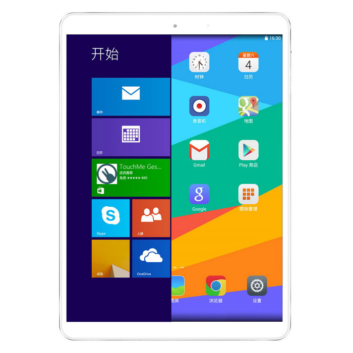 "Vido M9i 9.7"" dual boot tablet-pc w / 2GB RAM, 32 GB ROM - wit + zilver"