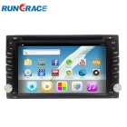 "Rungrace 6.2"" TFT Screen 2-Din Android 4.2 Car DVD Player w/ GPS, BT, RDS, ATV, Wi-Fi - Black"