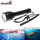 UltraFire 5XL2 5-LED 4000lm Steples Diving Flashlight - Black
