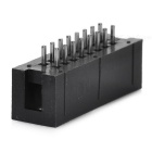2.54mm Pitch Single Row 16Pin Pin Header Set - Black (10 PCS)