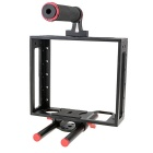 Universal Protective DSLR Camera Cage Stabilizer for Canon 5D Mark II 7D - Black + Red