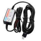 12~36V to DC 5V Voltage Step Down Power Converter Cable for Car - Black