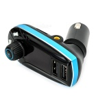 Car MP3 Music Player FM Modulator w/ TF, USB 2.0, 3.5mm - Black + Blue
