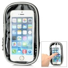 "Yanho Bike Mounted Touch Screen Case Bag for 4.8"" Phones - White (M)"