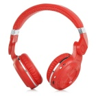 Bluedio T2 Rotatable Folding Wireless Bluetooth V4.1 Headphones w/ Mic - Red